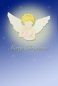 天使のクリスマスカード(JPEG)