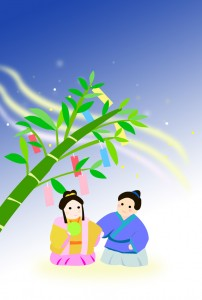 七夕のカード(縦)