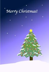クリスマスツリー1(PNG)