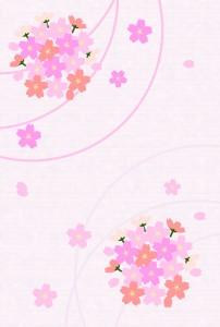 桜のカード(ピンク背景)