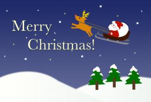 クリスマスカード(PNG)